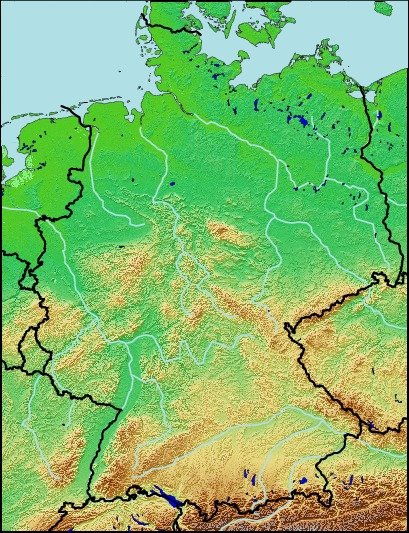 Map Of Germany Quiz.Quiz Of Rivers Germany