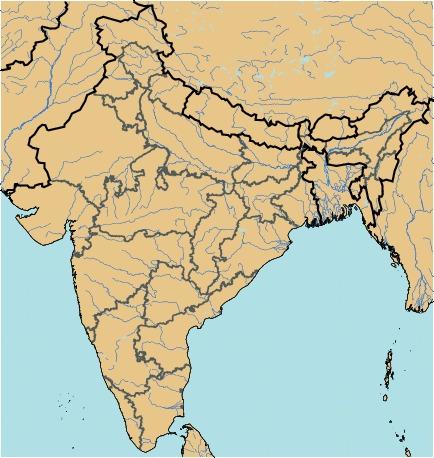 Stumme Karte Naher Osten.Bundesstaaten In Indien Cactus2000 Quiz